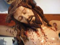 Crocifisso ligneo nella chiesa di Nociazzi attribuito a Padre Umile di Petralia - particolare  - Castellana sicula (3437 clic)