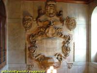 Palazzo delle Aquile - scalone monumentale: lapide marmorea a ricordo dell'incoronazione di Vittorio