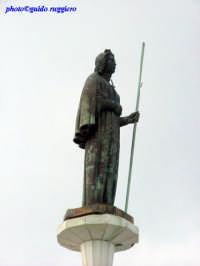 Monte Pellegrino - statua di Santa Rosalia  - Palermo (3527 clic)