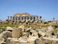 Situata su di una spianata alta circa 30 metri s.l.m., Selinunte prende il nome dal Selinon. Venne fondata da coloni di Megara Hyblaea guidati dall' ecista Pammilos, nel VII secolo a.C. Tempio A sullo sfondo il tempio C.  - Selinunte (2832 clic)