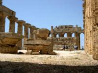 Situata su di una spianata alta circa 30 metri s.l.m., Selinunte prende il nome dal Selinon. Venne fondata da coloni di Megara Hyblaea guidati dall' ecista Pammilos, nel VII secolo a.C. Tempio E.  - Selinunte (2092 clic)
