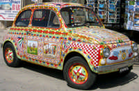 Fiat 500 in stile siciliano  - Palermo (4021 clic)