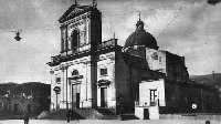 Il Duomo di San Leonardo Abate a Mascali prima della distruzione della cittadina del 1928  - Mascali (6592 clic)