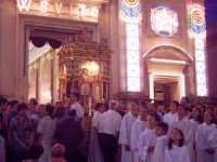 L'uscita del santo durante lo spettacolo pirotecnico  - Macchia di giarre (4806 clic)
