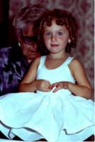 Lia Cottone vestita da verginella in occasione della festa in onore di M.S.S.D.Grazie.  - Montagnareale (2022 clic)
