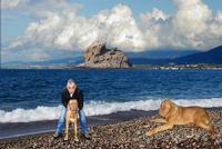 DSC_8846x3-Gaetano De Luca e il suo cane Perla   - Montagnareale (2922 clic)