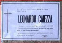 Purtroppo dopo una lunga malattia è venuto a mancare Leonardo Caiezza.   - Montagnareale (3882 clic)