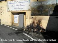 Incendio doloso al comune di montagnareale:hanno incendiato pure alcuni cassonetti della spazzatura...è un segnale?? (5129 clic)