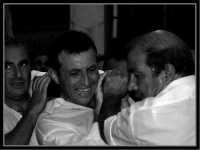 Pippo Palazzolo,salvatore Milici e Antonio Cappadona. processione in onore a M.S.S.D.Grazie,15/Agosto/2004.  - Montagnareale (3579 clic)
