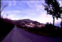 la strada che porta a Montagnareale;sulla destra il paese.  - Montagnareale (1904 clic)