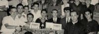 Padre Spiccia e i giovani dell'Azione Cattolica. Anno-1962.  - Montagnareale (3460 clic)