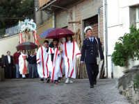 S.Sebastiano sotto la pioggia;processione  - Montagnareale (2268 clic)