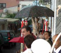 S.Sebastiano sotto la pioggia;processione  - Montagnareale (2047 clic)