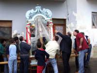 S.Sebastiano sotto la pioggia;processione.  - Montagnareale (2124 clic)