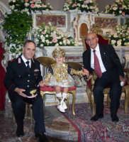 Ferragosto 2003:Processione M.S.S.D.Grazie. Il Maresc.Amata,Giosuè De Luca e Riccardo Sidoti.  - Montagnareale (2745 clic)