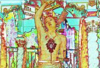 processione S.Sebastiano;La statua:elaborazione grafica.  - Montagnareale (2795 clic)