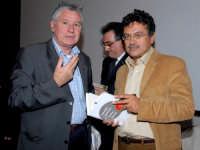 Lo scrittore e Filosofo Marcello Veneziani con il collega Nino Casamento. DSC_1966b  - Montagnareale (2720 clic)