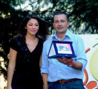2°AUTOSLALOM CITTA' DI MONTAGNAREALE. IL Vicesindaco Calogero Cipriano insieme a Miss Rocchetta.  - Montagnareale (3015 clic)