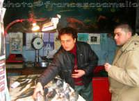 Vendita di pescato locale in una storica casa del pesce di Riposto.(2oo6)  - Riposto (4094 clic)