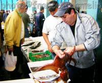 Mercato del pesce e vendita al dettaglio del pescato locale. Pescheria di Riposto.(2oo5)  - Riposto (6614 clic)