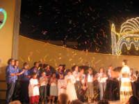 Festa della Madonna del Rosario (11.09.05) - Il canto dell'inno all'uscita del simulacro della Madonna.  - Pedalino (4857 clic)