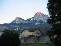 Tramonto sulla vetta Svizzera, Natale 2004  - Montagnareale (3371 clic)