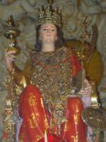Simulacro di Santa Lucia sull'altare maggiore.  - Belpasso (5890 clic)