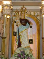 Simulacro di Maria SS. del Carmelo sull'altare Maggiore nel giorno della festa ( 16 Luglio ).  - Riposto (2386 clic)