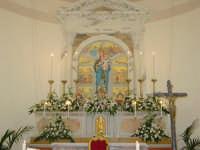 Simulacro di Maria SS. delle Grazie sull'altare Maggiore nel giorno della festa ( Luglio ).  - Carrubba di giarre (3150 clic)