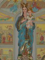 Simulacro di Maria SS. delle Grazie sull'altare Maggiore nel giorno della festa ( Luglio ).  - Carrubba di giarre (2885 clic)