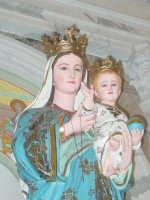 Simulacro di Maria SS. delle Grazie sull'altare Maggiore nel giorno della festa ( Luglio ).  - Carrubba di giarre (2872 clic)