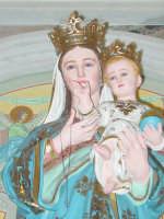 Simulacro di Maria SS. delle Grazie sull'altare Maggiore nel giorno della festa ( Luglio ).  - Carrubba di giarre (2870 clic)