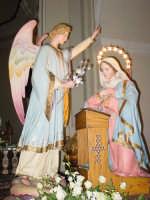 Simulacro di Maria SS. Annunziata sull'altare Maggiore nel giorno della festa ( Aprile ).  - Nunziata di mascali (4119 clic)