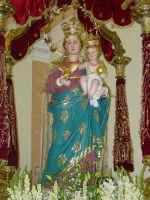 Simulacro di Maria SS. Raccomandata sul fercolo nel giorno della festa ( 8 settembre ).  - Giardini naxos (3183 clic)