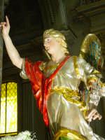 Artistico simulacro di Maria SS. Annunziata esposto nella Cattedrale nel giorno della festa (particolare dell'angelo gabriele).  - Acireale (1564 clic)