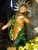 Artistico simulacro di Maria SS. Annunziata esposto nella Cattedrale nel giorno della festa ( particolare della Beata Vergine ).  - Acireale (1847 clic)