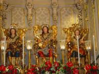 I tre santi fratelli martiri Alfio, Filadelfo e Cirino subito dopo la svelata all'interno della cappella nel santuario a loro dedicato.  - Trecastagni (2747 clic)