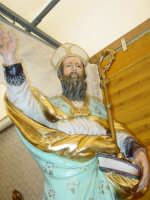 Maestoso simulacro di S.Antonio Abate nella Chiesa tenda nel giorno della festa ( 17 Gennaio ).  - San leonardello di giarre (2857 clic)