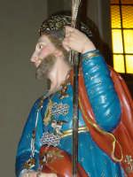Festa di Sant'Isidoro Agricola: simulacro del Santo ( particolare ).  - Giarre (1971 clic)