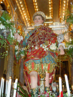 Statua di San Vito Martire sul Fercolo il Giorno della Festa.  - Mascalucia (4197 clic)