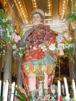 Statua di San Vito Martire sul Fercolo il Giorno della Festa.  - Mascalucia (9559 clic)