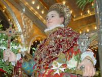 Statua di San Vito Martire sul Fercolo il Giorno della Festa.  - Mascalucia (4025 clic)