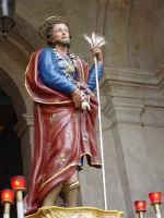 Festa di Sant'Isidoro Agricola: simulacro del Santo sul sagrato del Duomo.  - Giarre (2234 clic)