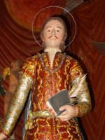 Statua di San Zenone esposta alla venerazione nella cappella di S. Placido.  - Biancavilla (1903 clic)