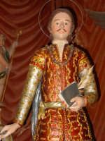 Statua di San Zenone esposta alla venerazione nella cappella di S. Placido.  - Biancavilla (1902 clic)