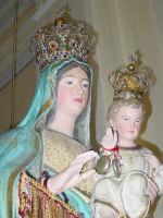 Festa della Madonna di Portosalvo: simulacro della madonna.( particolare ).  - Altarello di giarre (5296 clic)
