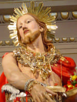 Simulacro di S. Giovanni Battista sull'altare maggiore nel giorno della festa ( 24 Giugno ).  - Aci trezza (1850 clic)