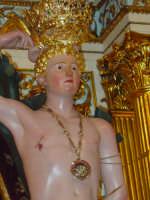 simulacro di S. Sebastiano mentre viene tirato fuori dalla cappella.  - Santa venerina (2886 clic)