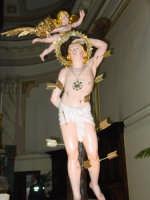 Simulacro di S. sebastiano nel momento dell'uscita dalla chiesa madre del paese.  - Piedimonte etneo (3152 clic)