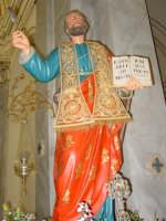 Statua di S.Matteo Apostolo nel giorno della festa esposta alla venerazione dei fedeli ( 21 Settembre ).  - Trepunti di giarre (3924 clic)